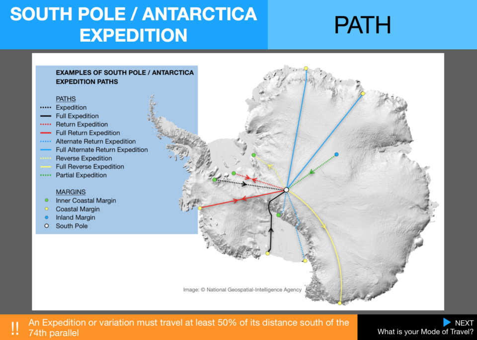 6  Expedition Antarctica Path Map