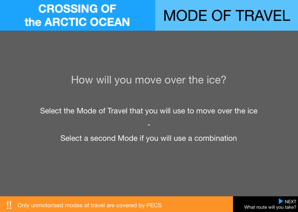 4  Pecs Crossings Mode Arctic Ocean