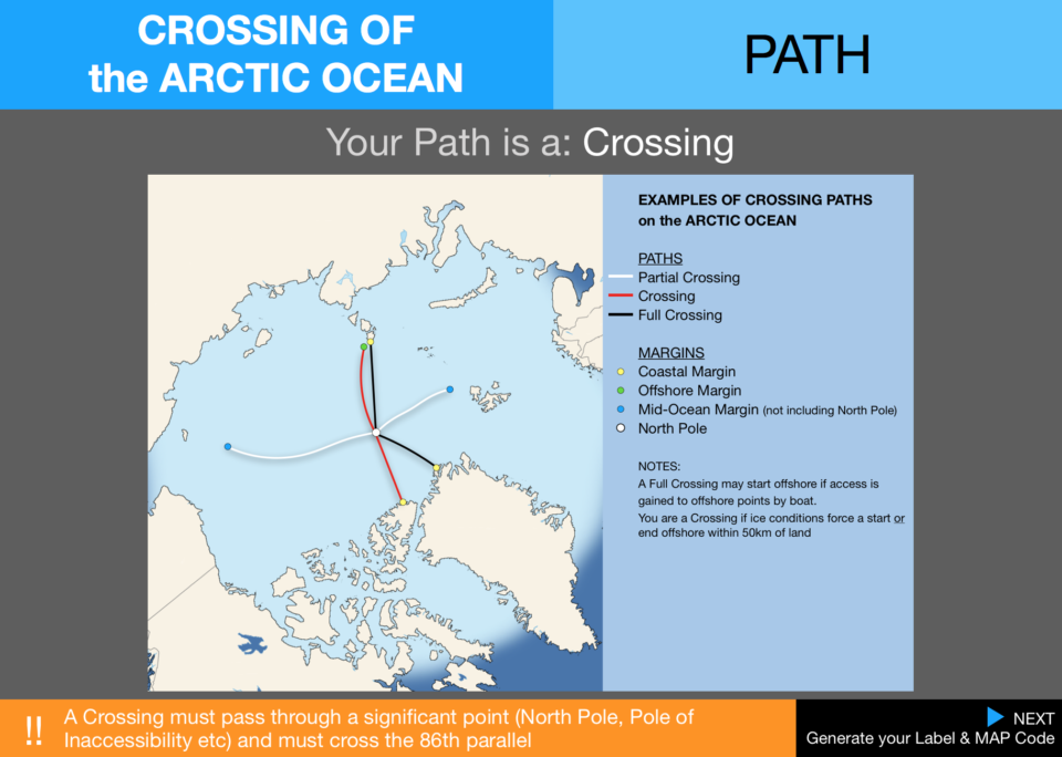 5  Pecs Crossings Path Arctic Ocean