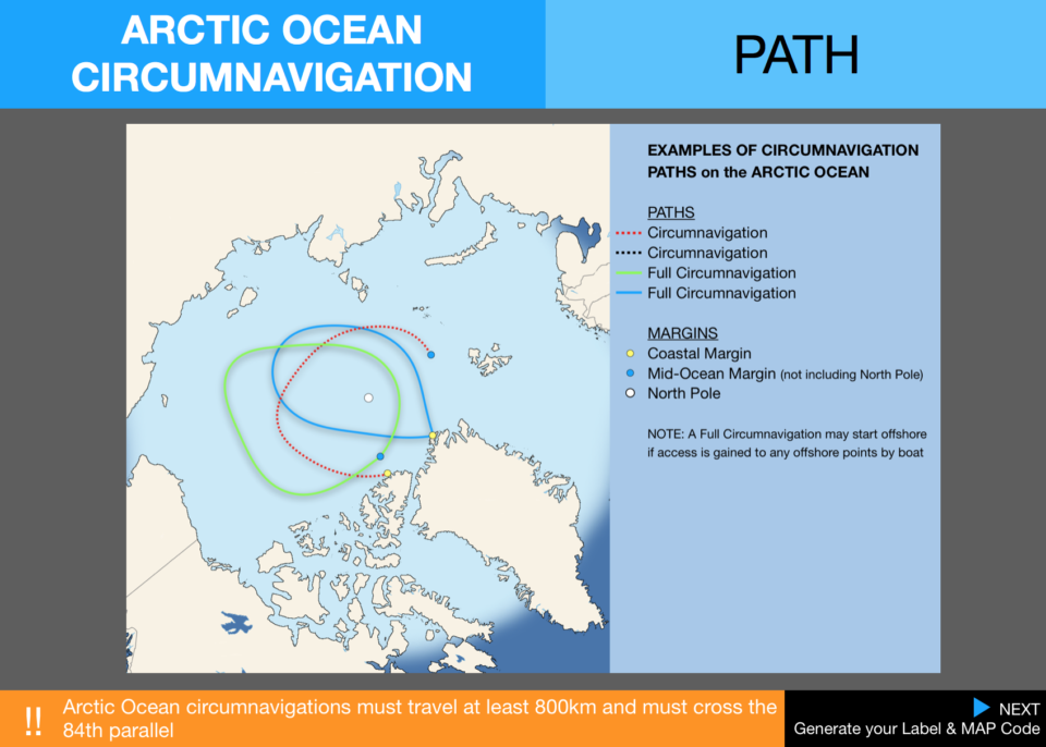 6  Pecs Circumnavigation Path Arctic Ocean Map