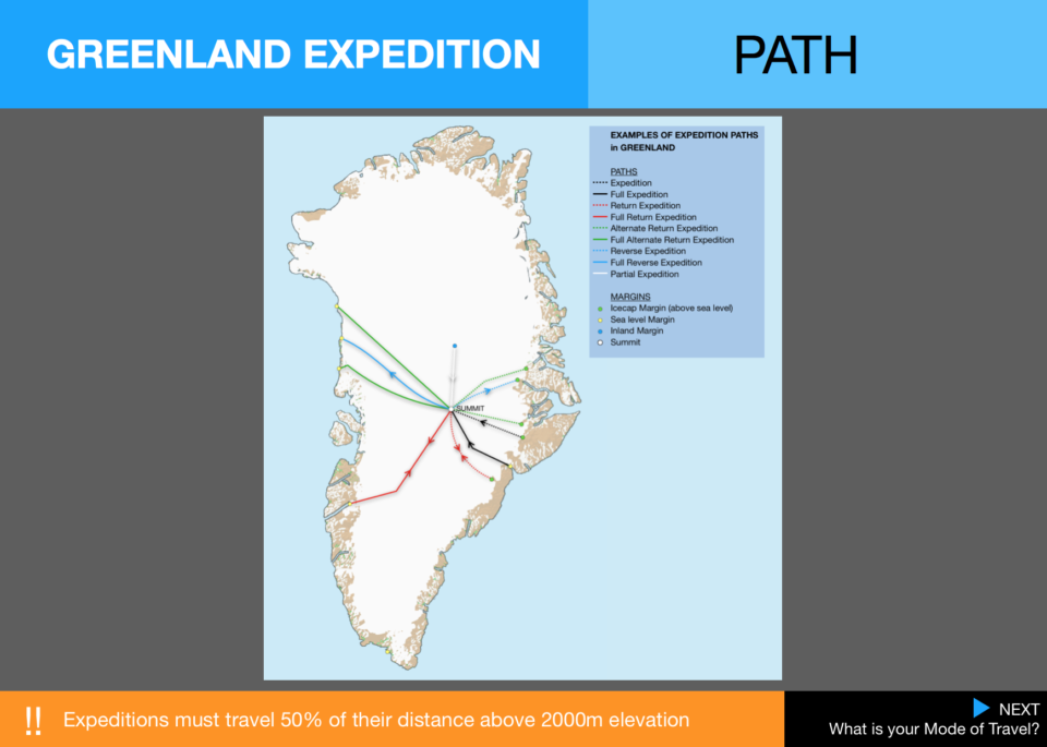 6  Expedition Greenland Path Map