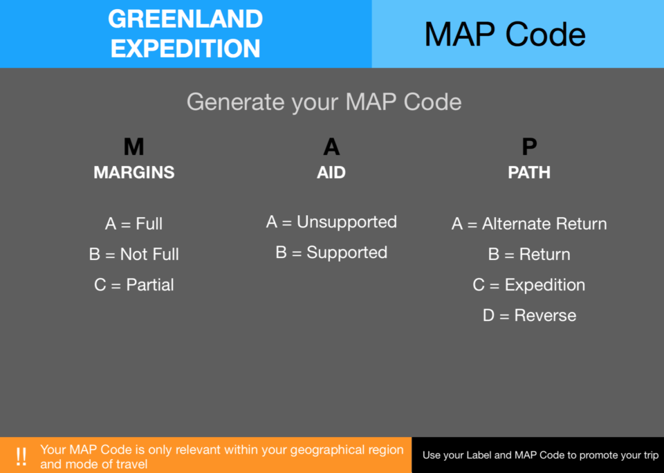 8  Expedition Greenland Map Code
