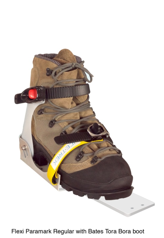 Icetrek Paramark Regular Ski Bindings Bates Tora Bora Boot