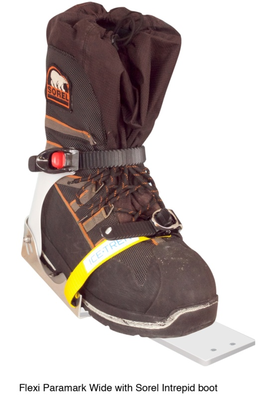 Icetrek Paramark Wide Ski Bindings Sorel Intrepid Boot