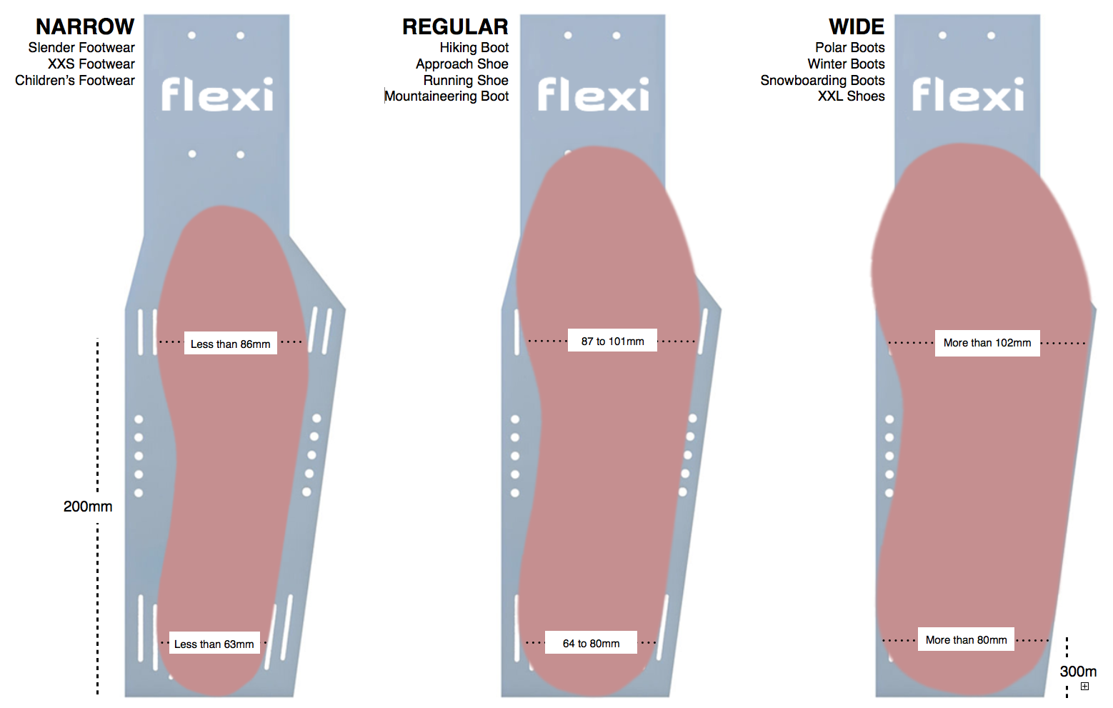 Flexi-Plateau-ski-bindings-sizing-chart.