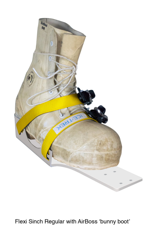 Icetrek Sinch Regular Ski Bindings With Air Boss Bunny Boot
