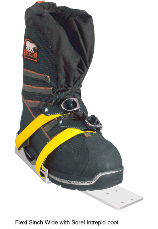 Icetrek Sinch Wide Ski Bindings With Sorel Intrepid Boot