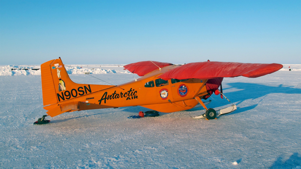 Plane At Barneo Ice Camp