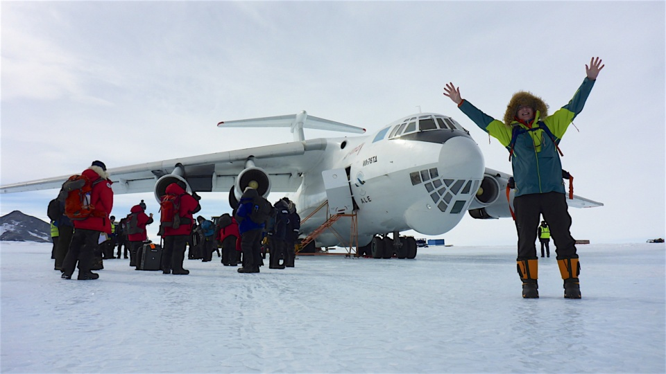 Icetrek Union Glacier IL76 on runway