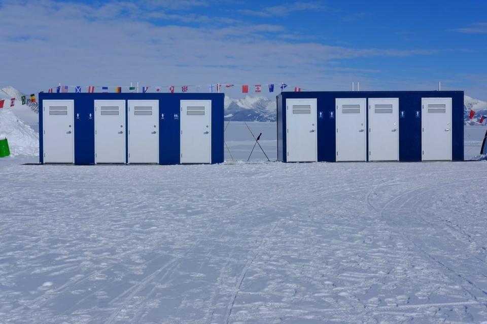 Icetrek Union Glacier Toilets