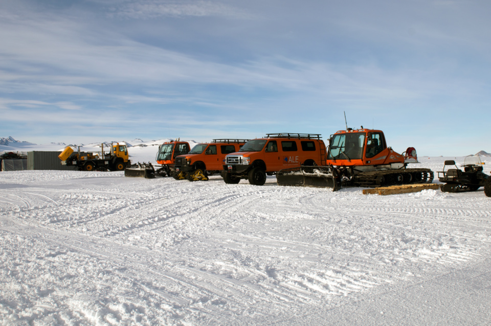 Icetrek Union Glacier Camp Vehicles