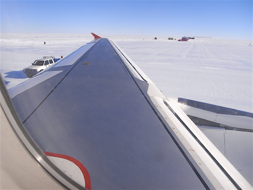 Icetrek Wilkins Airbase Antarctica From A319