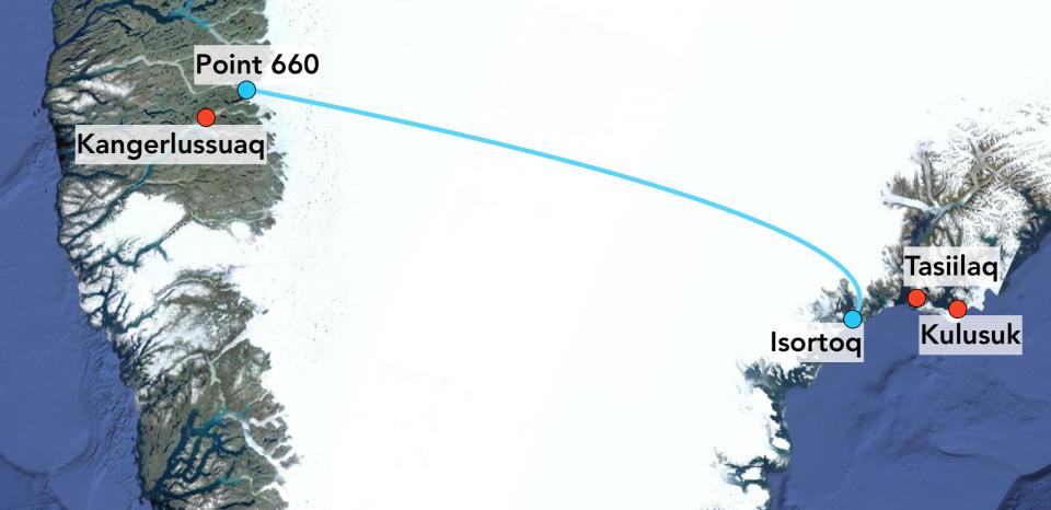 Greenland crossing
