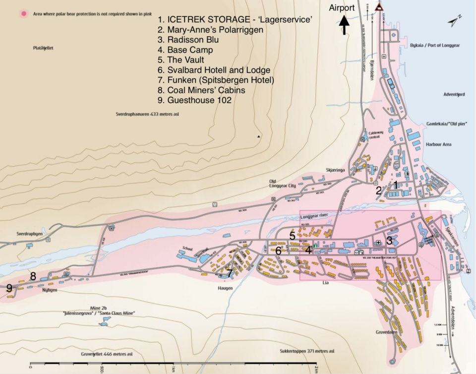 Icetrek Map of Longyearbyen