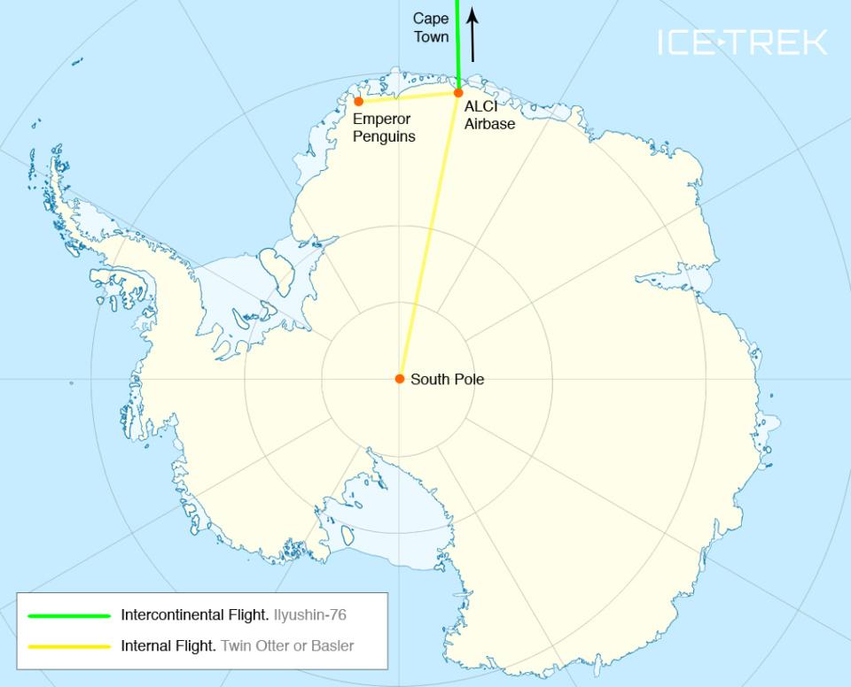 Icetrek Antarctica Map Cape Town Spep